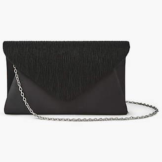 John Lewis Fiona Satin Clutch Bag, Black