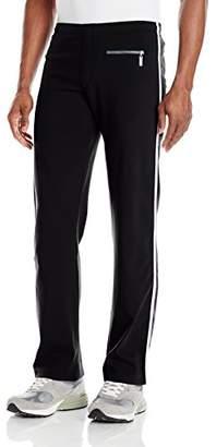 Sauvage Men's Tactel Silver Side Stripe Workout Pant