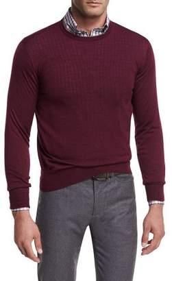 Peter Millar Collection Merino-Silk Crewneck Sweater