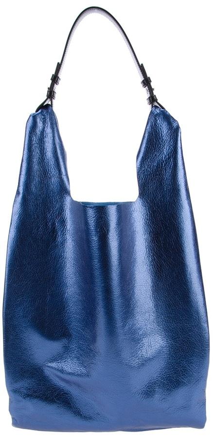 Jil Sander Metallic market bag
