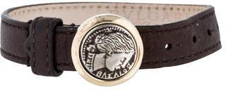 Bvlgari Bvlgari Monete Coin Leather Bracelet