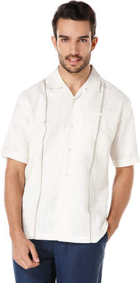 Cubavera Linen Short Sleeve Slub Camp Collar Shirt