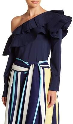 Gracia Ruffle One-Shoulder Blouse