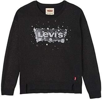 Levi's Girl's Sweater Glitte Jumper,(Manufacturer Size: 8A)