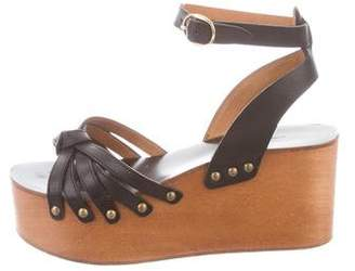 Isabel Marant Ankle Strap Leather Wedges