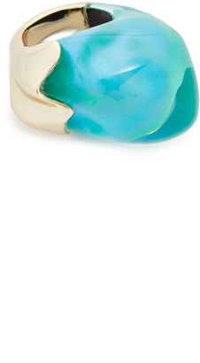 Alexis Bittar Domed Liquid Silk Cocktail Ring $275 thestylecure.com