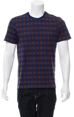 Louis Vuitton Striped Logo Appliqué T-Shirt