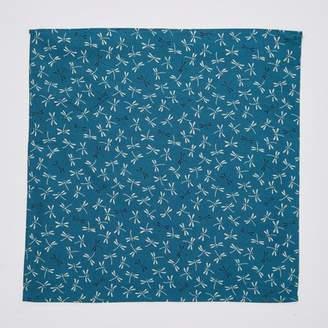 Blade + Blue Teal Dragonfly Print Pocket Square