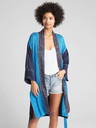 Gap Mix-Print Kimono Duster Jacket