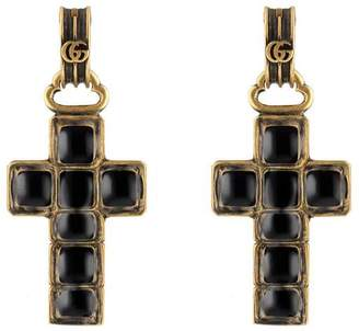 Gucci Earrings with cross pendant