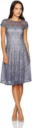 Sangria Women's Petite Sequin Lace Dress