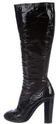 Miu Miu Patent Leather Knee-High Boots