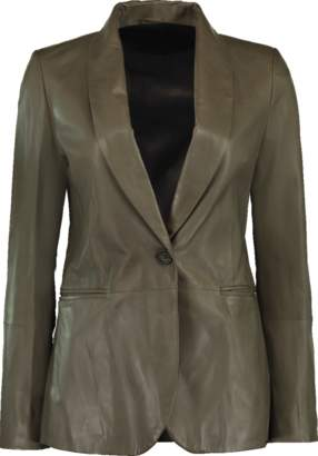 Brunello Cucinelli Leather Shawl Blazer