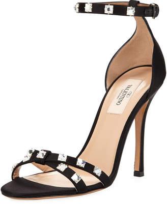 Valentino Rockstud Glam Satin City Sandal