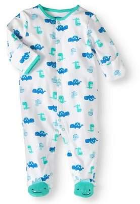 Bon Bebe Newborn Baby Boy Sleep 'N Play with Mitten Cuffs