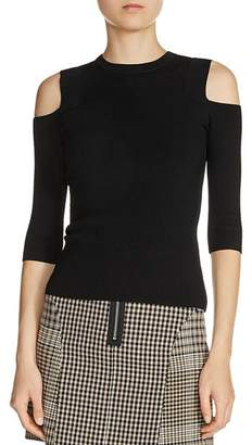 Maje Manato Cold Shoulder Sweater