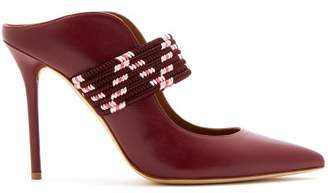 Malone Souliers Mara Leather Mules - Womens - Burgundy