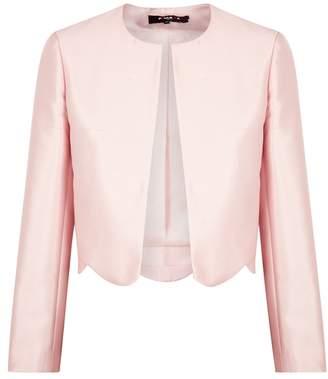 Paule Ka Pale Pink Scalloped Dupion Jacket