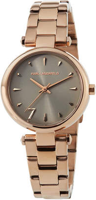 Karl Lagerfeld 34mm Aurelie Bracelet Watch, Rose