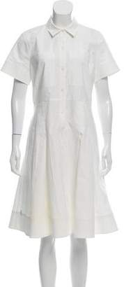 Michael Kors Short Sleeve Pleated Shirtdress