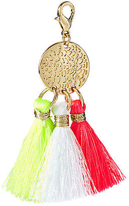 Lilly Pulitzer Removable Triple Tassel Disc Zipper Pull