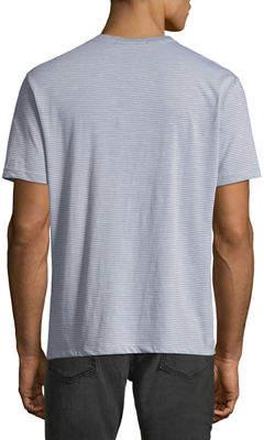 Robert Barakett Men's Granby V-Neck Striped T-Shirt
