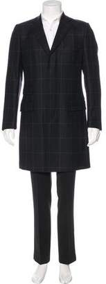 Dolce & Gabbana Windowpane Virgin Wool Overcoat