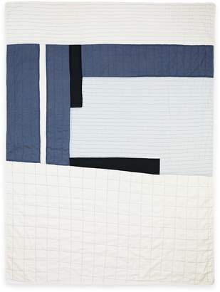 Anchal Project Large Throw Quilt (Bone & Silver)