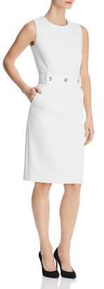 BOSS Duleama Grommet-Belt Sheath Dress