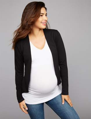 Pea Collection Tart Open Front French Terry Maternity Jacket