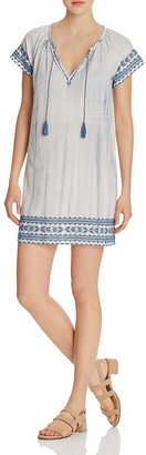 Soft Joie Megdalyn Embroidered Tie-Dye Dress $218 thestylecure.com