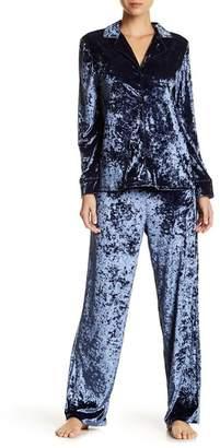 French Connection Brushed Velvet Boyfriend Pajama Set