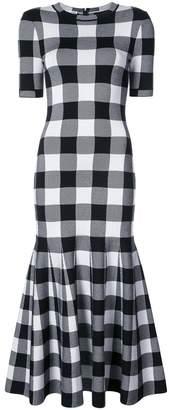 Oscar de la Renta チェック ドレス