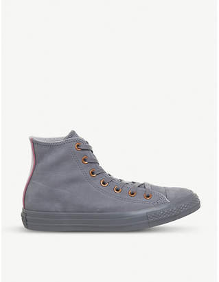 Converse high-top leather trainers