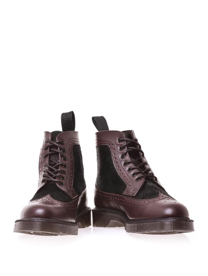 Dr. Martens Mathias leather and pony skin boots
