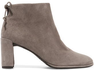 Stuart Weitzman - Lofty Suede Ankle Boots - Gray $500 thestylecure.com