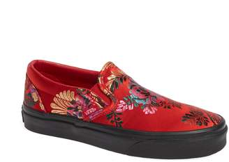 Vans Classic Embroidered Satin Slip-On Sneaker
