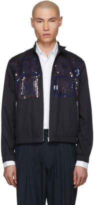 Dries Van Noten Navy Caraffe Sequin Jacket