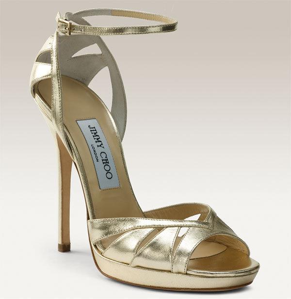 Jimmy Choo 'Kenzie' Metallic Leather Sandal