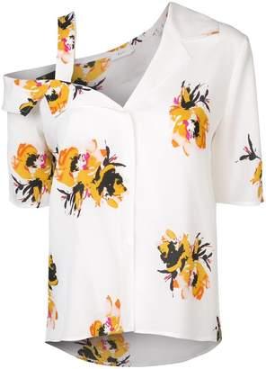 A.L.C. asymmetric floral print shirt