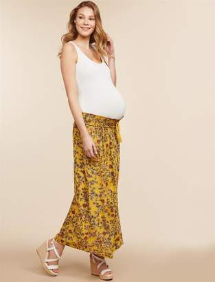 Jessica Simpson Motherhood Maternity Under Belly A-line Maternity Skirt