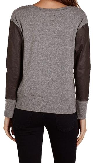 Current/Elliott Stadium Sweatshirt With Coated Sleeves