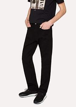 Paul Smith Men's Standard-Fit 12oz 'Super Black' Stretch-Denim Zip Fly Jeans