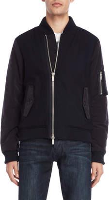 Armani Jeans Navy Mixed Media Jacket