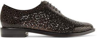 Clergerie Jordan Laser-cut Patent-leather Brogues - Black