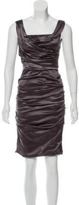 Dolce & Gabbana Ruched Silk Dress