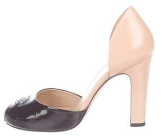Chanel Peep-Toe d'Orsay Pumps