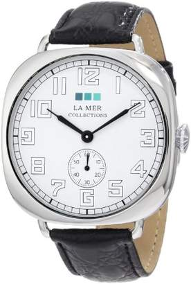 La Mer Women's LMOVW2031 Black Silver Oversized Vintage Watch