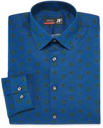 Jf J.Ferrar Easy Care Stretch Long Sleeve Broadcloth Geometric Dress Shirt - Slim