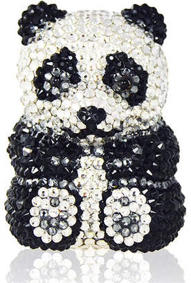 Judith Leiber Couture Ling Panda Pillbox, Black/White